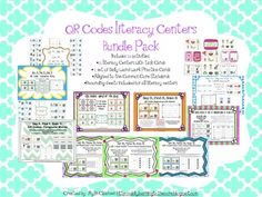 QR Codes Literacy Centers Bundle Pack: Common Core Aligned
