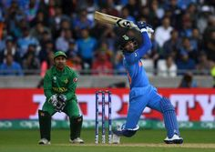 Hardik Pandya hit three sixes in the final over as India finished with a hefty total of 319 for 3.