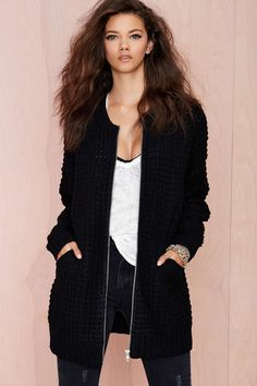 So Game Baseball Sweater Jacket | Shop What's New at Nasty Gal