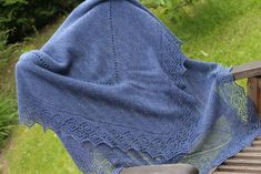 Stonington Shawl in Shetland 2ply lace yarn