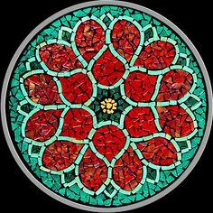 beautiful mosaic, simple but striking!                                                                                                                                                      More