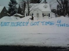 Graffiti from people that are 'over' winter
