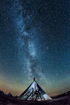 Camping under the Milkyway.
