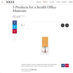 Habit Cosmetics Nail Polish on Vogue.com April 4th, 2016