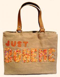"""""""Just Boheme Orange"""" Beach bags  www.sylt-boheme.de"""