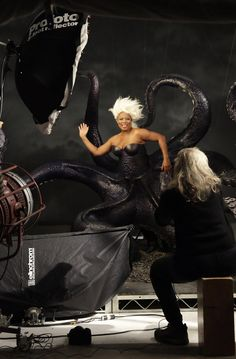 "Behind the scenes of Disney's ""The Little Mermaid"" starring Queen Latifah as Ursula, photographed by Annie Leibovitz for Disney Parks, 2011."