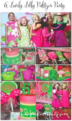 attn Kira: A Lovely Lilly Pulitzer (Party- Frosted Events) so cute! could adapt for grown up girlies too