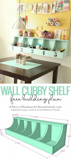 DIY Beautiful Wall Cubby Shelf – Free Building Plan – Remodelaholic