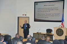 @doctorbrannon @Sam_J_Mullins  James Howcroft, director of the Program in Terrorism and Security Studies, explains What is Terrorism: Definitions and Terms to 72 participants from 54 countries Feb. 25 during the first day of #PTSS15-03 at the George C. Marshall European Center for Security Studies here. The #PTSS1503 started Feb. 25 and will end with a graduation ceremony March 25 at the Marshall Center. (DOD photo by Karlheinz Wedhorn/RELEASED)