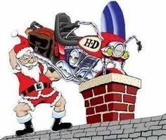 Santa loves bikers