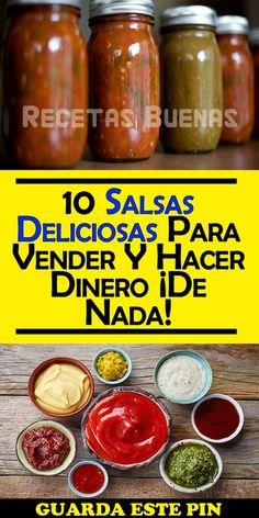 10 Salsas Deliciosas Para Vender Y Hacer Dinero ¡De Nada! Salsa Picante, Spicy Salsa, Homemade Salsa, Tasty, Yummy Food, Food Plating, Chutney, Mexican Food Recipes, Food And Drink
