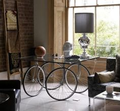from http://www.inspirationgreen.com/bicycle-art.html  - oh, how I love this