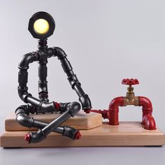 pipe robot lamp