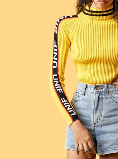 Badsport Mock Neck | Unif - $78 // Reminds me of Kill Bill, which is never a bad thing.