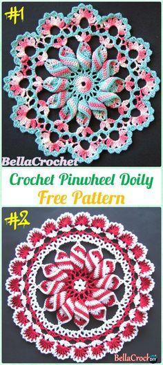 Crochet Pinwheel Doily Free Pattern - Crochet Doily Free Patterns
