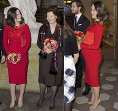 NewMyRoyals:  Royal Swedish Academy of Fine Arts, Stockholm, February 19, 2016-Princess Sofia with Queen Silvia and Prince Carl Philip