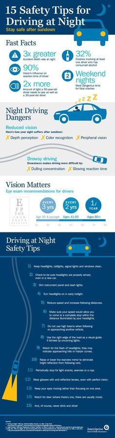 Easy to learn safety tips for driving at night