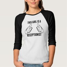 This Girl Is A Receptionist Tee T Shirt, Hoodie Sweatshirt