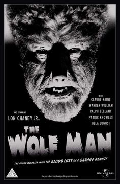 Universal Classic Monsters Movie Poster : The Wolfman 1941