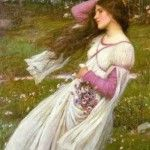 Windflowers 1903, by John William Waterhouse | Purple:  How a Failed Chemistry Lab Experiment Altered 19th Century Class Structure | WriterMariecor.com