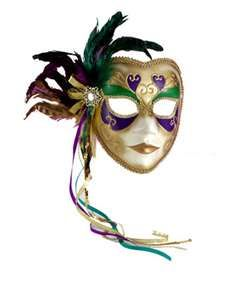 Maardi Gras Porcelin Mask