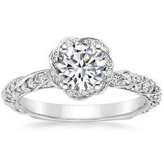 18K White Gold Cordoba Diamond Ring from Brilliant Earth