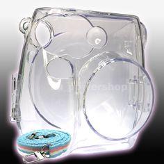 Camera Case Crystal Plastic + Strap for Fuji Mini Fujifilm Instax Camera Fuji Polaroid Camera, Polaroid Cases, Camera Case, Film Camera, Polaroid Ideas, Fuji Instax Mini 8, Fujifilm Instax Mini 7s, Instax Mini Camera, Instax 8
