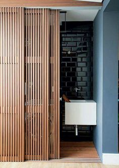 Modern Bathroom Vanities – In this year, the minimalist house became a trend decor house. Interior decoration can apply to some room in your houses . Sliding Door Design, Sliding Wall, Sliding Room Dividers, Sliding Panels, Sliding Door Closet, Modern Closet Doors, Sliding Bathroom Doors, Door Dividers, Internal Sliding Doors