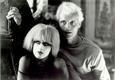 "Blade Runner (directed by Ridley Scott based on Philip K. Dick's novel ""Do Androids Dream of Electric Sheep?"" w/ Rutger Hauer  Daryl Hannah in photo)"