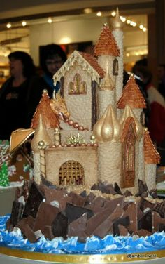 Gingerbread Castle with Dragon