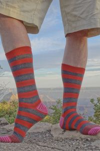 Elvis Midcalves: the king of socks. Shown here in front of the Grand Canyon, in order to do justice to their majesty.