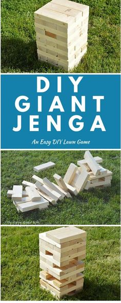 You can easily build this DIY Giant Jenga game for your next party or picnic!