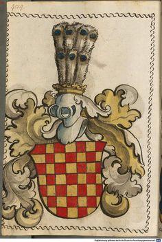 Scheibler'sches Wappenbuch Süddeutschland, um 1450 - 17. Jh. Cod.icon. 312 c Folio 484