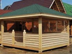 Wooden Summer House, Gazebo, Shed, Outdoor Structures, Style, Wood, Houses, Swag, Kiosk