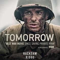 from - See why critics are praising as the most powerful war film since Saving Private Ryan. In theaters TOMORROW! Get tickets: link in bio. Desmond Doss, Hacksaw Ridge, Saving Private Ryan, Hero World, War Film, Andrew Garfield, Get Tickets, Hollywood Celebrities, Us Army