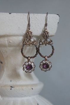 Vintage assemblage earrings french cut от frenchfeatherdesigns