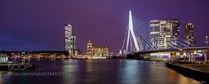 Rotterdam / Bridge Erasmus - Pinned by Mak Khalaf Rotterdam with Bridge Erasmus City and Architecture HollandRotterdamarchitecturebluebridgebuildingcitycityscapelightnightnikonnikon d7100reflectionriverseasigmaskystreettravelurbanwater by FotoMD