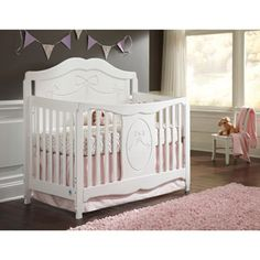 Storkcraft Princess Fixed Side Convertible Crib, White   This Will Be Baby  Ku0027s Crib For Sure!