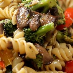 Garlic Veggie Rotini Pasta Recipe by Tasty
