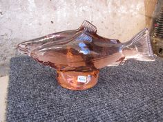 Sweden Kosta Boda Paul Hoff Slominski glass figurine WWF animals fish salmons #KostaBoda #PaulHoff