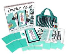 Fashion Plates Deluxe Kit and thousands more of the very best toys at Fat Brain Toys. Arrange fashion plates and rub the crayon over the paper to transfer the ima. Plate Design, Set Design, Special Snowflake, Mix And Match Fashion, Typography Wedding Invitations, Crayon Holder, Early Morning Workouts, Best Birthday Gifts, Fashion Design Sketches