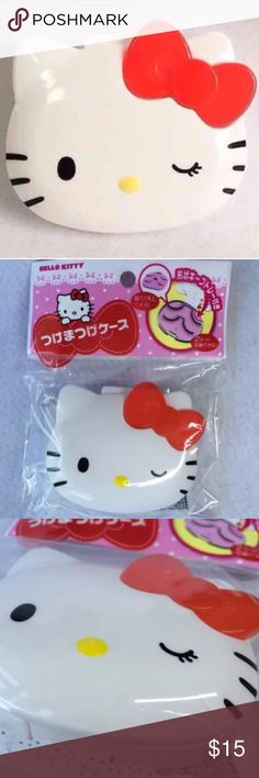 Hello Kitty Eye Lash Storage Case+BONUS! Love Hello Kitty? Keep your Eye Lashes nice & neat in this adorable Licensed Sanrio Hello Kitty Case from Japan! Brand New in package. 2 Pr. storage insert is removable & can be used for Headphones Etc as well! Full Sz. Now includes a SPECIAL BONUS! 1Pr. of Natural False Lashes! Makeup False Eyelashes