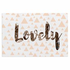 "Suzanne Carter ""Lovely"" Beige Digital Decorative Door Mat"