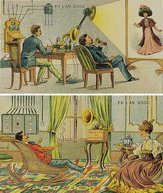 History of the future, from 1910; a sort of television, in 2000