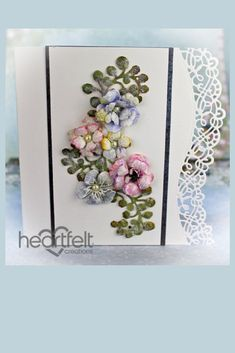 Amazing Mother's Day or birthday card. Handmade with H.C. flowers and dies. #card #mothersdaycard #birthdaycard #affiliate #paperflowers #handmadecard #heartfeltcreations #060418