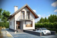 Проект одноэтажного дома с мансардой и гаражом в подвале. R3550