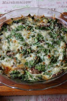 Spinach and Mushroom Crustless Quiche