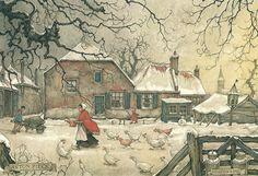 Anton Pieck Winter   Anton Pieck als tekenaar van Heemsteedse en…