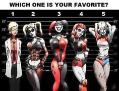 Harley Quinn line-up