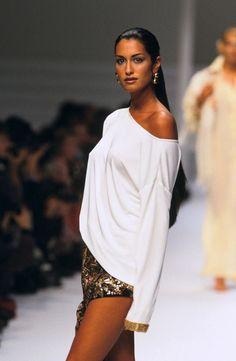 80s-90s-supermodels:  Yasmeen Ghauri, early 90s